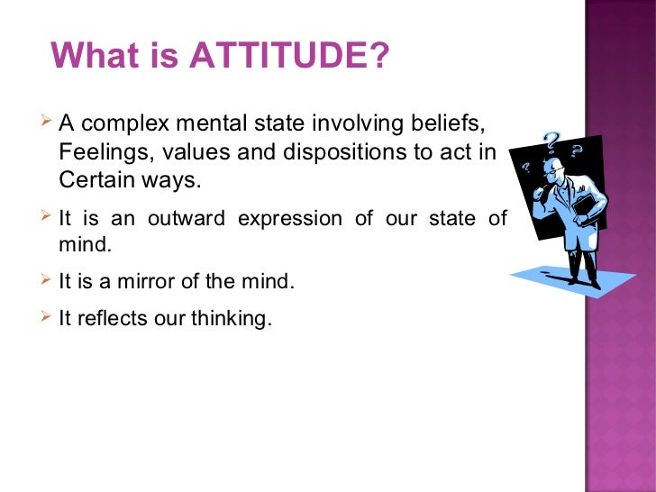 what is an attitude In origin, attitude is the same word as aptitude both come ultimately from late latin aptitūdō in old french this became aptitude, which english acquired in the 15th century, but in italian it became attitudine, which meant 'disposition' or 'posture.