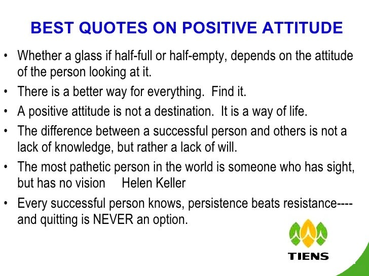Attitude Is Everything For Success
