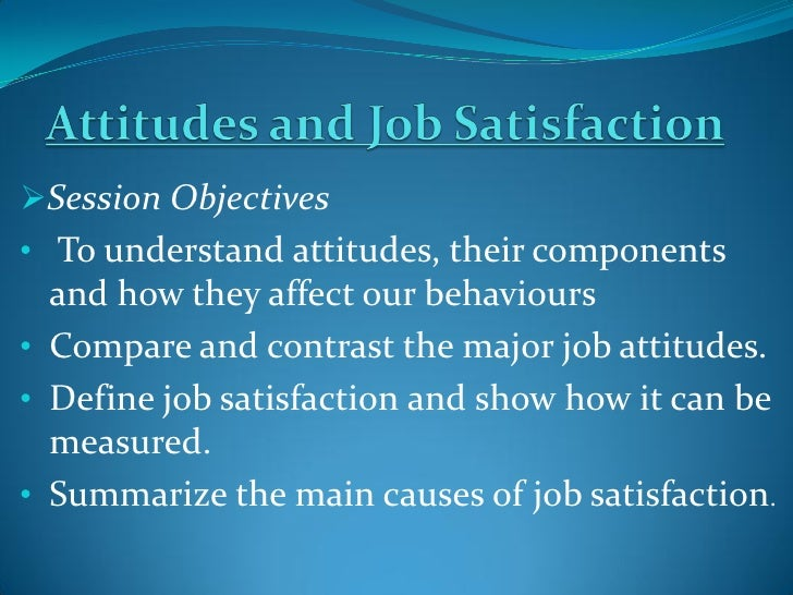 Job Satisfaction, Work Attitude