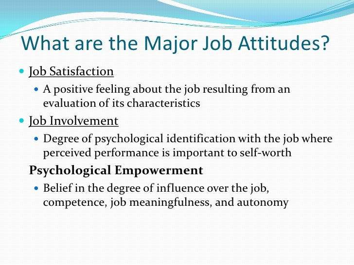 attitude and job satisfaction article Academic journal article international journal of education and management studies worker's attitude and job satisfaction.