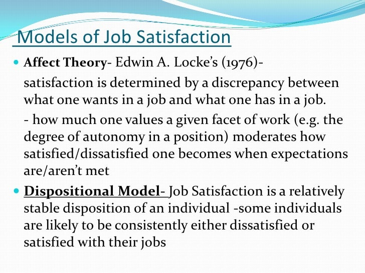 attitudes and job satisfaction Start studying ch 3 attitudes and job satisfaction learn vocabulary, terms, and more with flashcards, games, and other study tools.