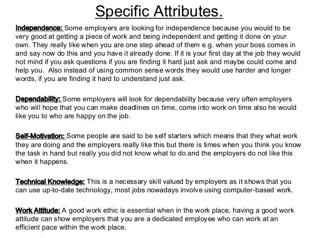 personal attributes valued by employers