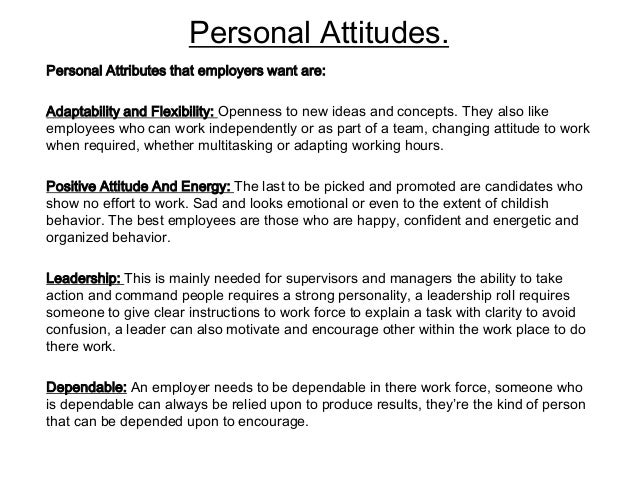 personal attributes