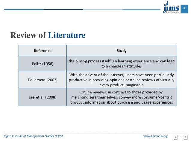 Purchase a literature review