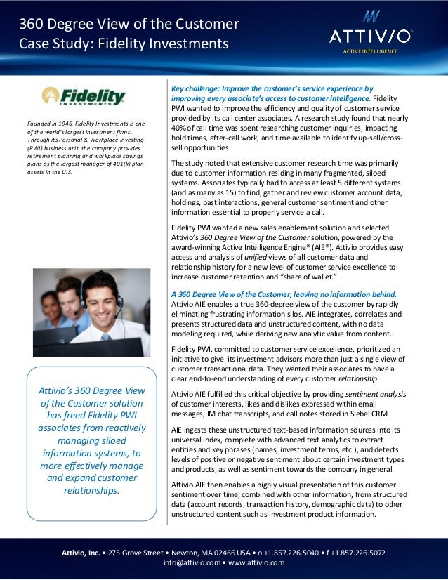 Attivio Customer Success Story - Fidelity PWI Customer Retention & Up…