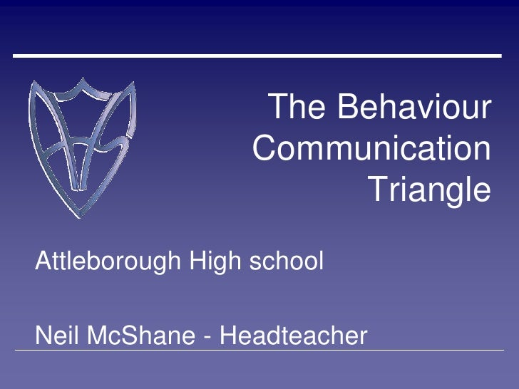 The Behaviour                  Communication                        TriangleAttleborough High schoolNeil McShane - Headtea...