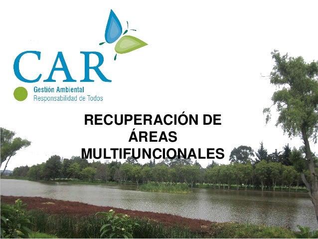 RECUPERACIÓN DE ÁREASMULTIFUNCIONALESEl parque ayudará a la recuperación de los ecosistemas del río beneficiando especialm...