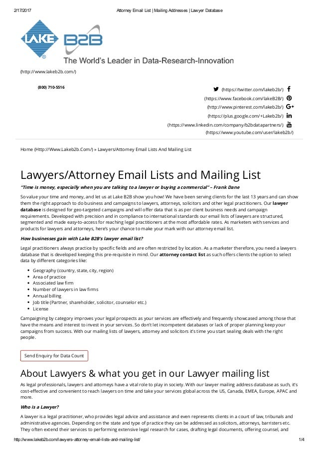 Lawyer Email Address List