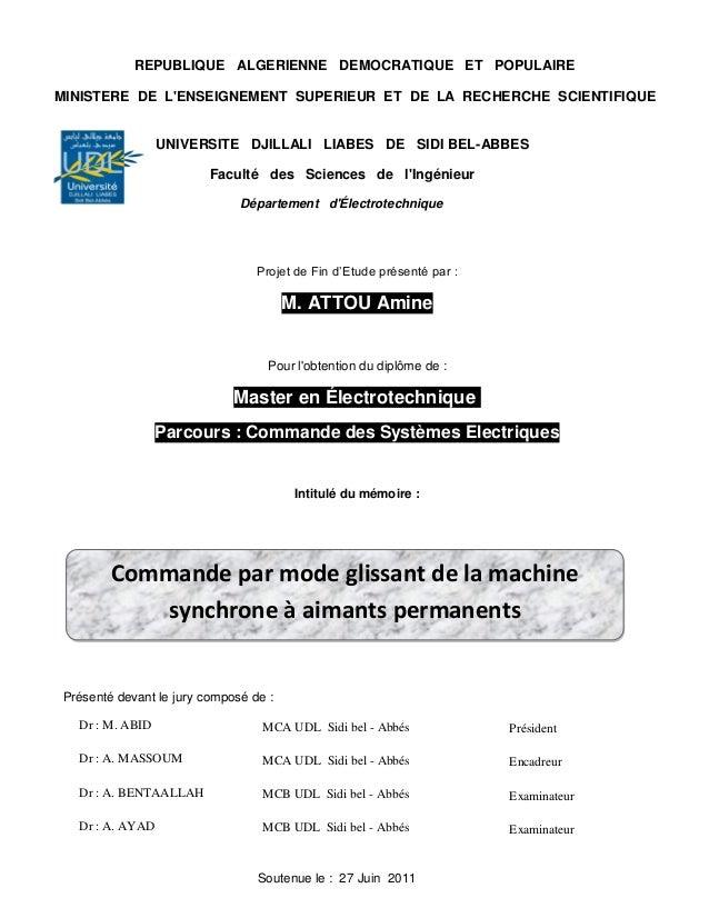 REPUBLIQUE ALGERIENNE DEMOCRATIQUE ET POPULAIREMINISTERE DE LENSEIGNEMENT SUPERIEUR ET DE LA RECHERCHE SCIENTIFIQUE       ...