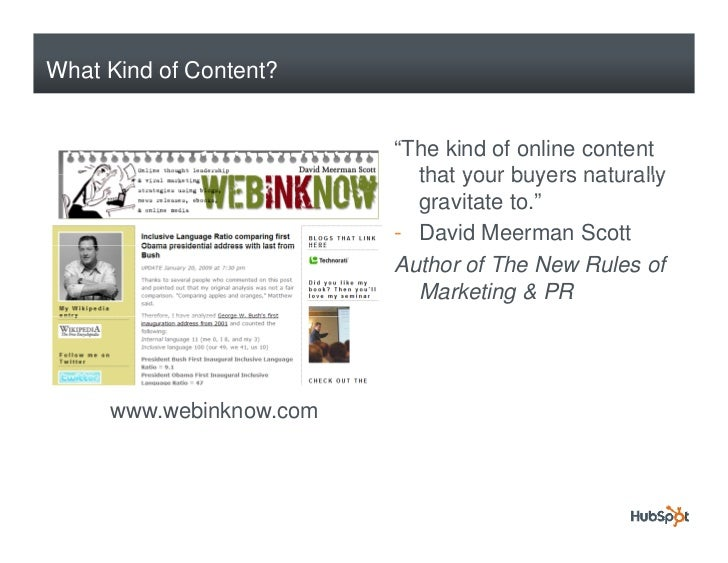 """What Kind of Content?                            """"The kind of online content                            that your buyers n..."""