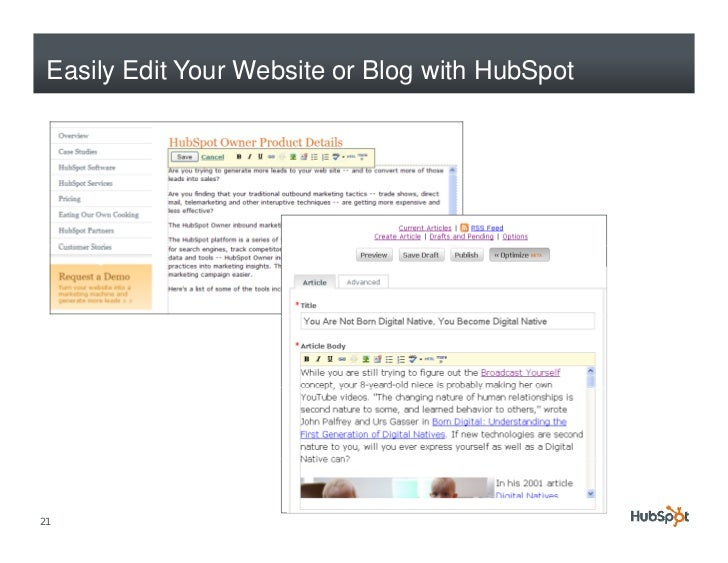Easily Edit Your Website or Blog with HubSpot     21