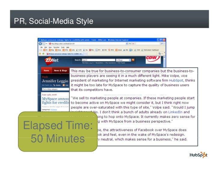 PR, Social-Media Style       Elapsed Time:    50 Minutes