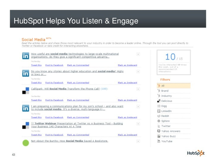 HubSpot Helps You Listen & Engage     43