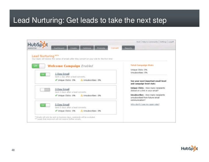 Lead Nurturing: Get leads to take the next step     48