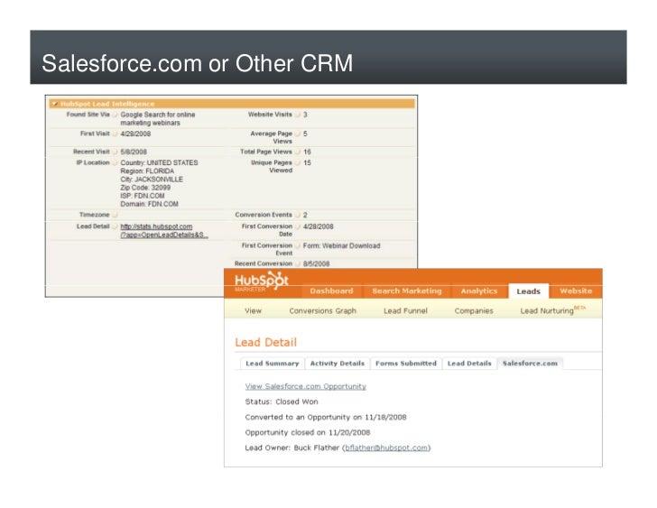 Salesforce.com or Other CRM