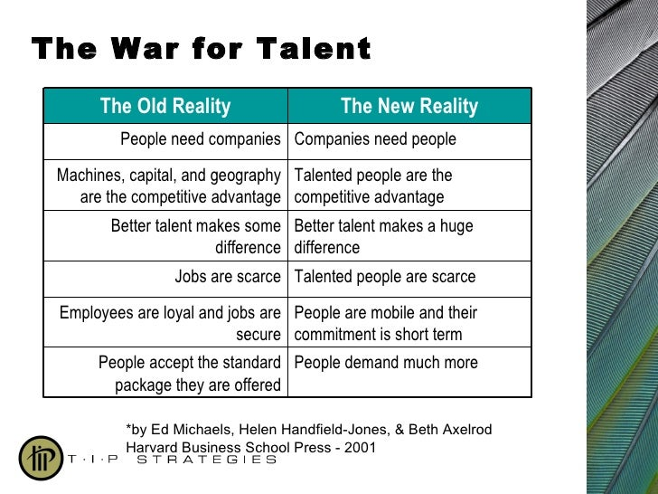 the war for talent attracting and retaining organisational commitment Gen y talent: how to attract and retain the young and the restless  and maximising gen y talent is essential for future organisational success  in the war for talent may incorporate an .
