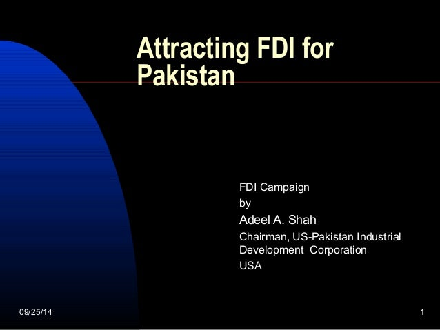 impediments to attract fdi in pakistan United nations conference on trade and development  disincentives and other impediments to inward in vestment  to attract foreign direct investment.