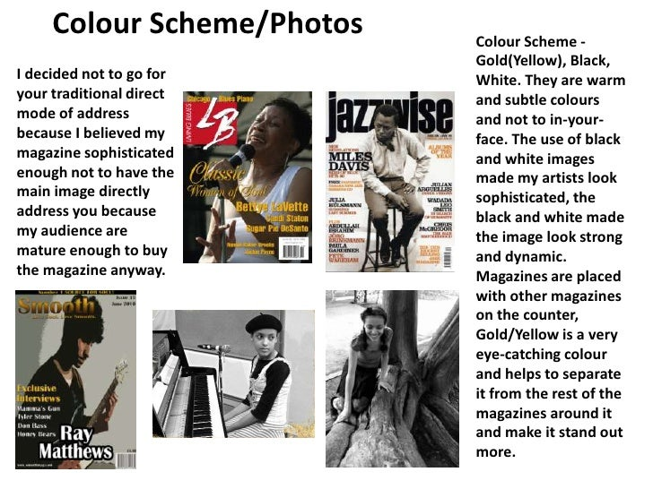 Colour Scheme/Photos<br />Colour Scheme - Gold(Yellow), Black, White. They are warm and subtle colours and not to in-your-...