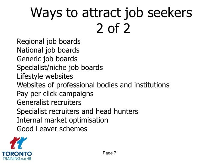 Attracting top quality candidates and improving the employer