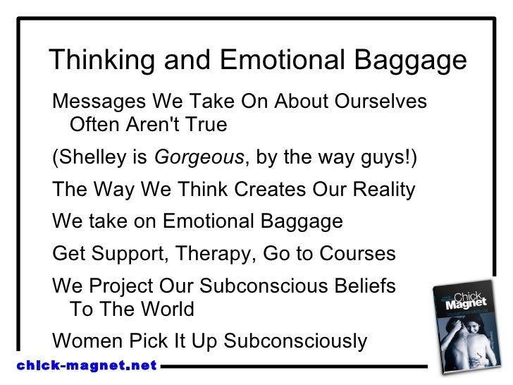 Dating woman with emotional baggage