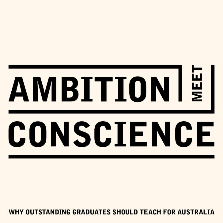 Why outstanding graduates should teach For australia