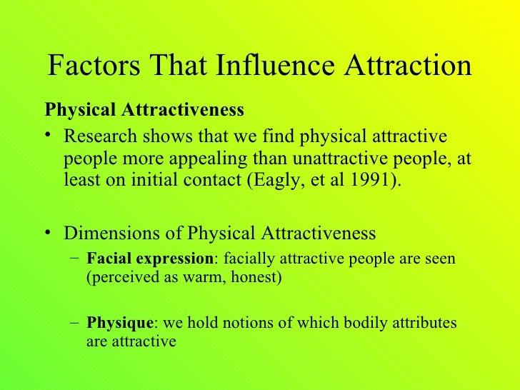 Physical attraction and relationships