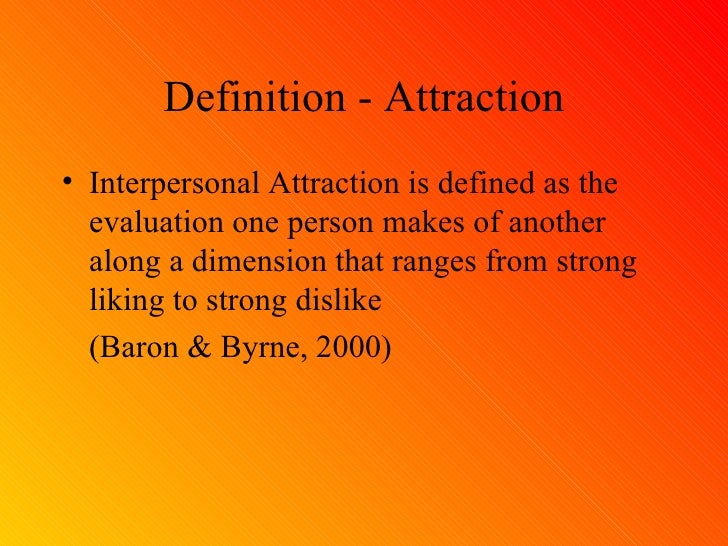 Attraction in relationships