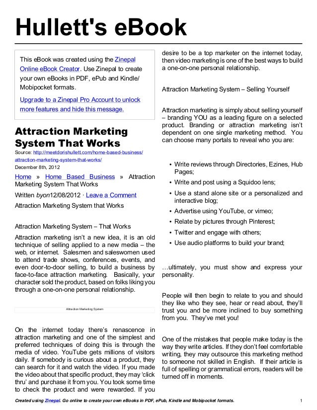 Hulletts eBook                                                                     desire to be a top marketer on the inte...