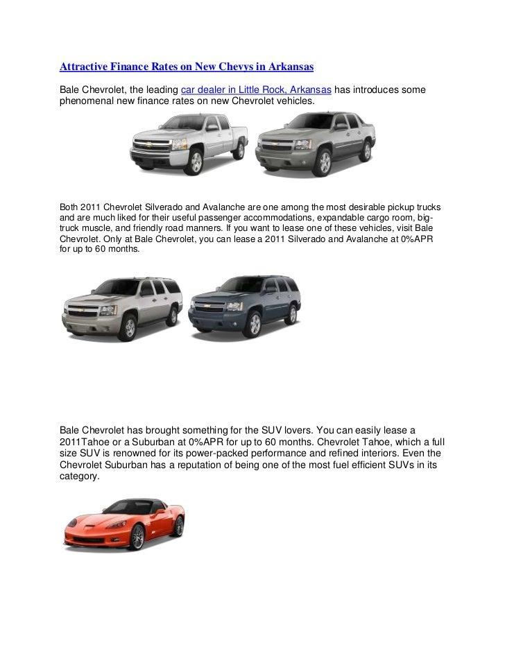 Attractive Finance Rates On New Chevys In Arkansas U003cbr /u003eBale Chevrolet, ...