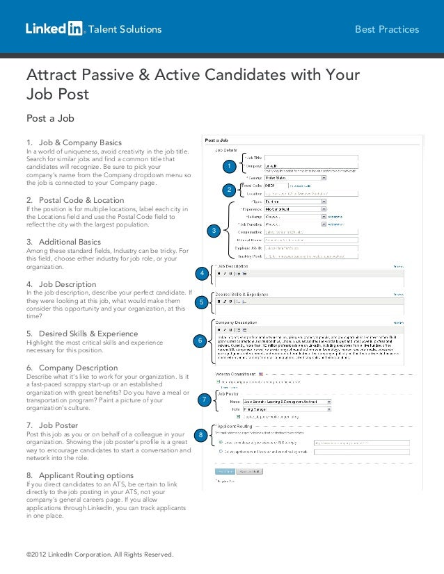 Talent Solutions                                         Best PracticesAttract Passive & Active Candidates with YourJob Po...