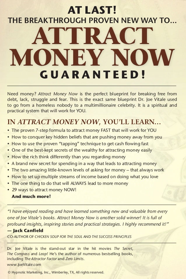 Attract money now - Joe Vitale