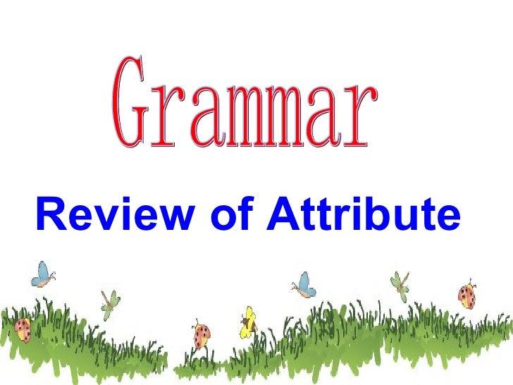 Grammar Review of Attribute