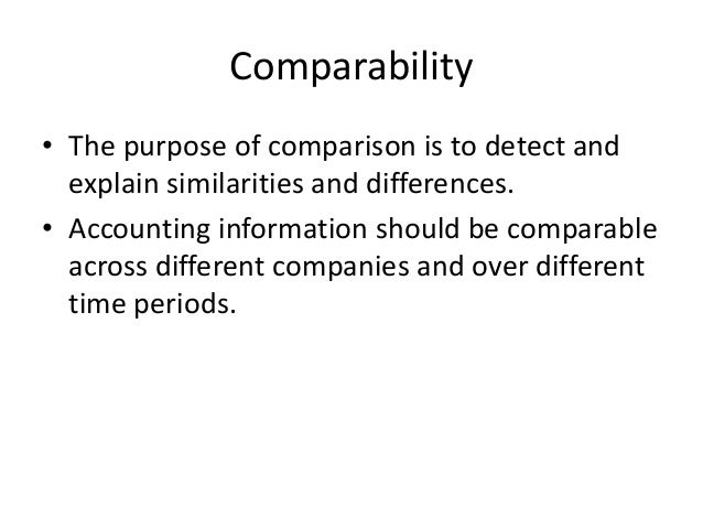 comparability accounting definition