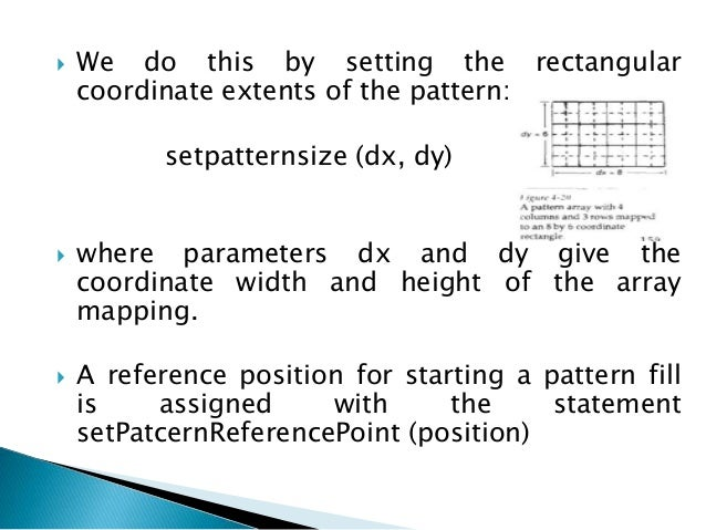  The pattern and background colors can be combined using Boolean operations, or the pattern colors can simply replace the...