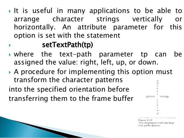 Attributes of Output Primitives