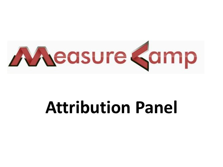 Attribution Panel