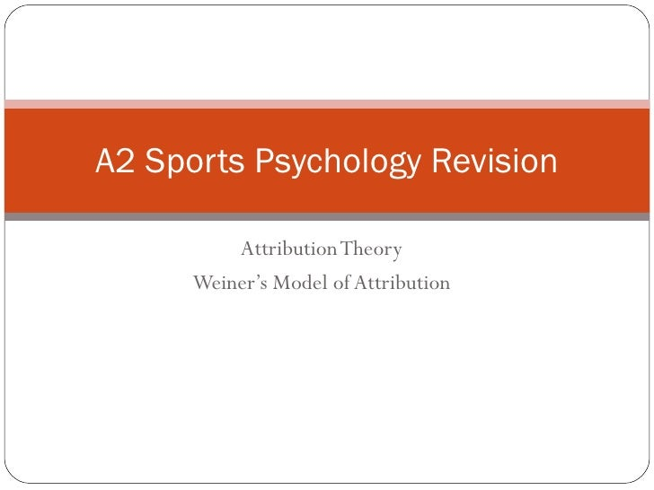 Attribution Theory Weiner's Model of Attribution A2 Sports Psychology Revision