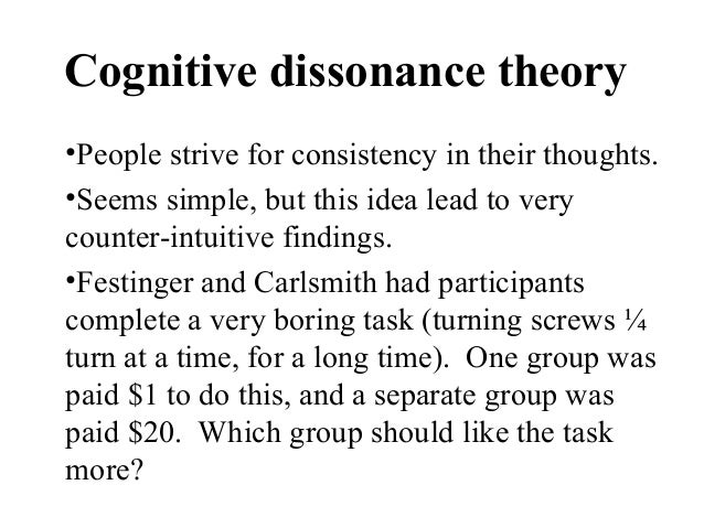 attribution theory 13 cognitive dissonance theory