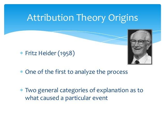 Fritz heider attribution theory