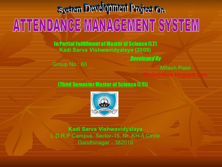 Atttendance managementsystem