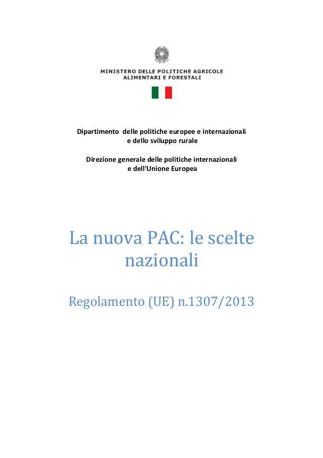 Dipartimento delle politiche europee e internazionali e dello sviluppo rurale Direzione generale delle politiche internazi...
