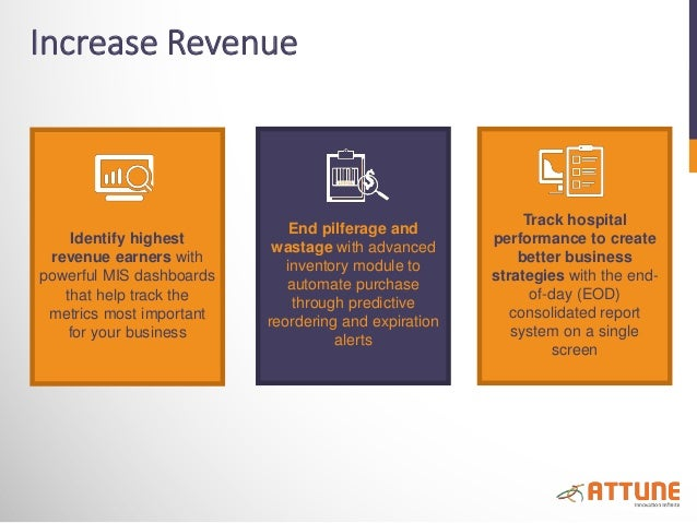 Increase Revenue Identify highest revenue earners with powerful MIS dashboards that help track the metrics most important ...