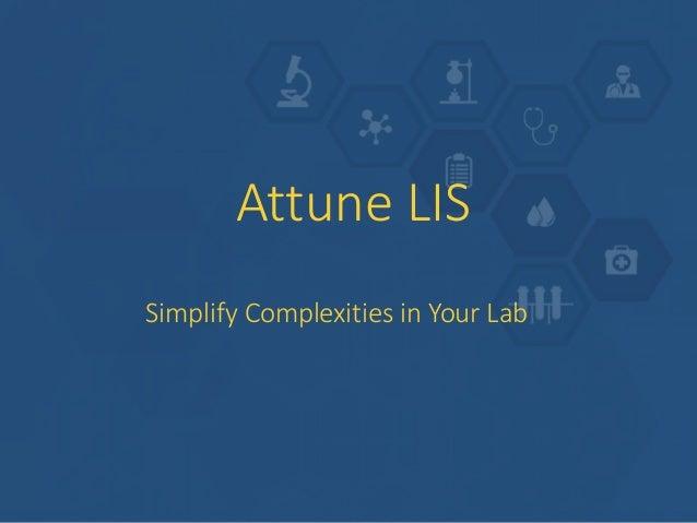 Attune Lab Information System Slide 3