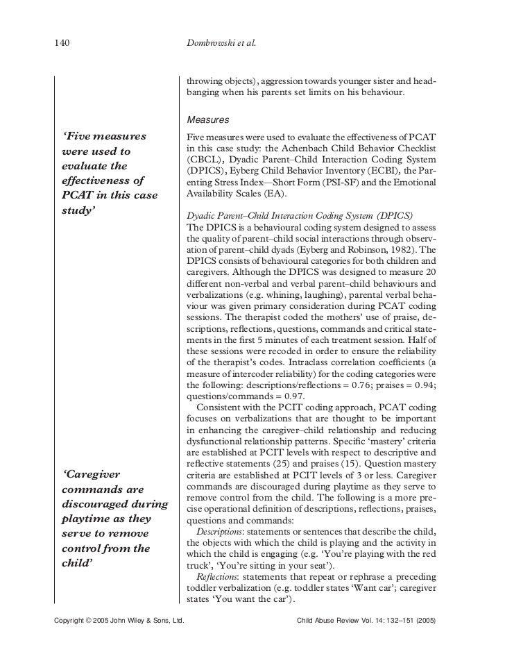 eyberg child behavior inventory ecbi pdf