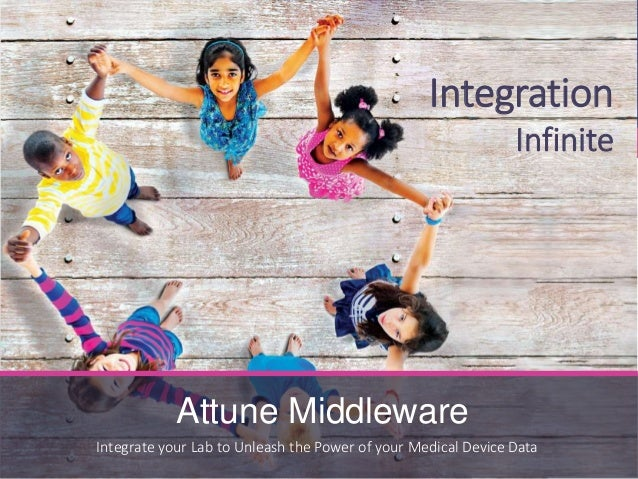 Integration Infinite Integrate your Lab to Unleash the Power of your Medical Device Data Attune Middleware