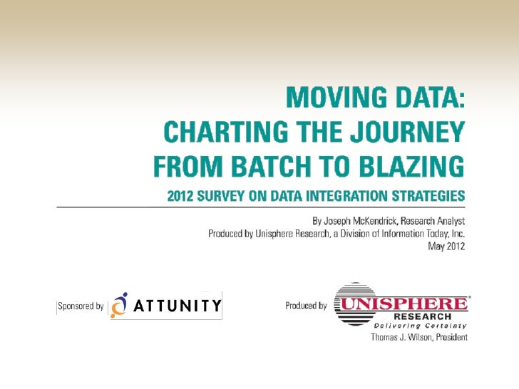 Batch To Blazing:Moving Data In Today's Real-time Business                    #Attunity
