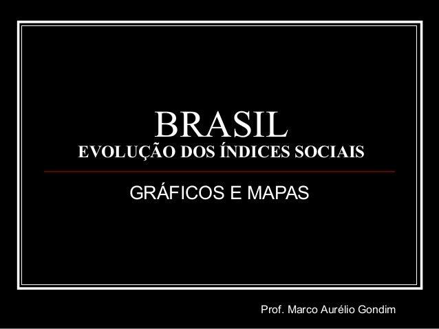 BRASIL EVOLUÇÃO DOS ÍNDICES SOCIAIS GRÁFICOS E MAPAS Prof. Marco Aurélio Gondim
