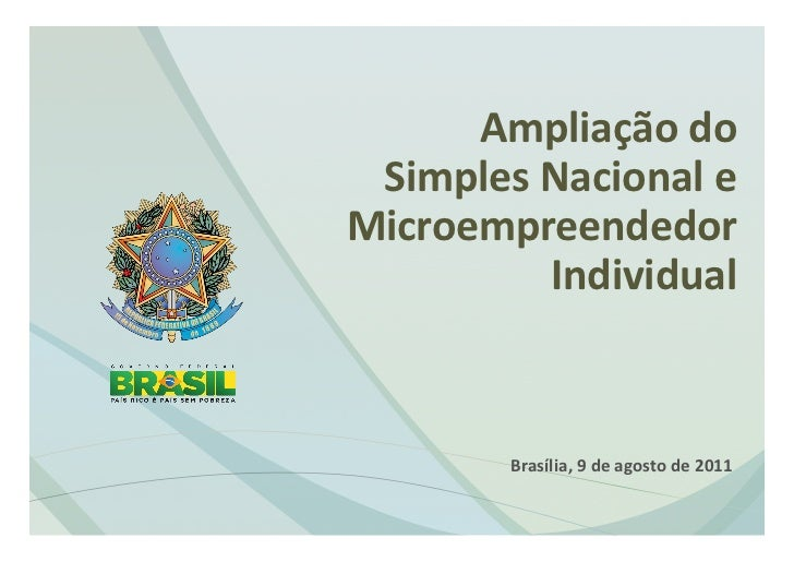 Ampliaçãodo  SimplesNacionaleMicroempreendedor           Individual                                        ...
