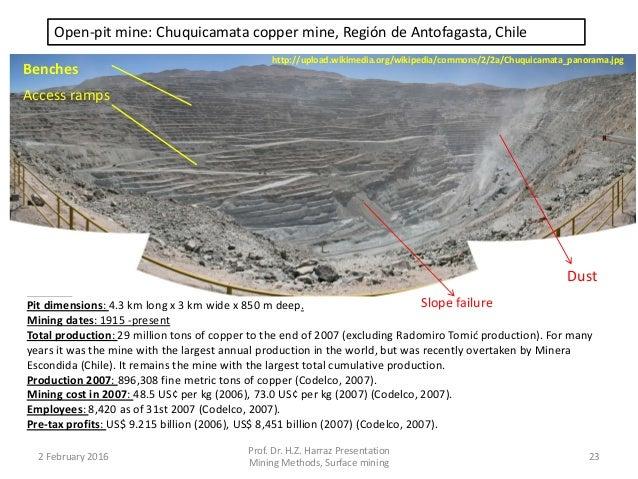 23 open pit mine chuquicamata copper