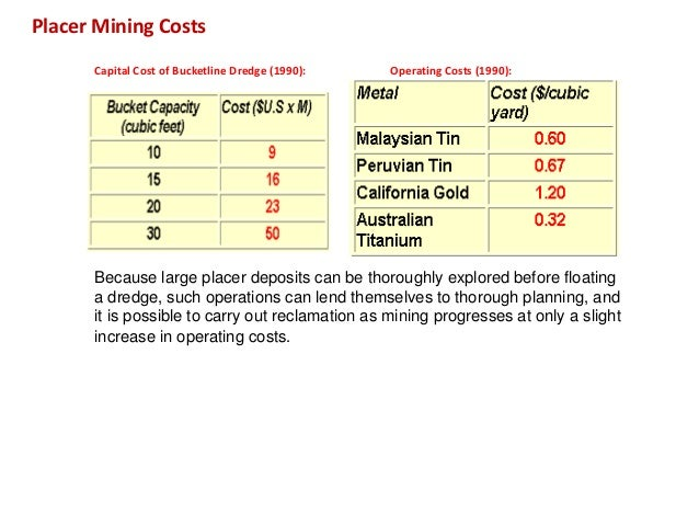 mining stripping costs